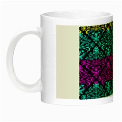 Cmyk Damask Flourish Pattern Glow in the Dark Mug