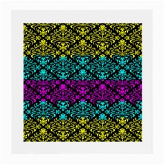 Cmyk Damask Flourish Pattern Glasses Cloth (medium)