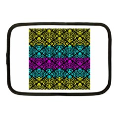 Cmyk Damask Flourish Pattern Netbook Case (Medium)