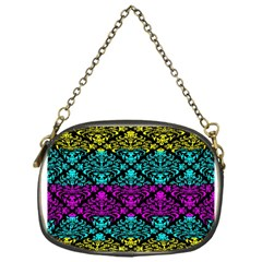 Cmyk Damask Flourish Pattern Chain Purse (One Side)