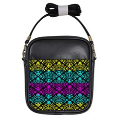 Cmyk Damask Flourish Pattern Girl s Sling Bag