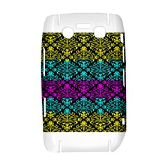 Cmyk Damask Flourish Pattern BlackBerry Bold 9700 Hardshell Case