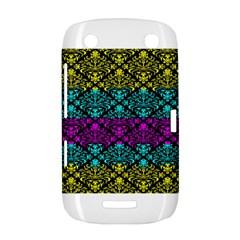 Cmyk Damask Flourish Pattern BlackBerry Curve 9380 Hardshell Case