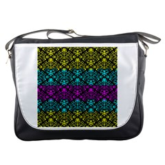 Cmyk Damask Flourish Pattern Messenger Bag
