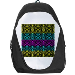 Cmyk Damask Flourish Pattern Backpack Bag
