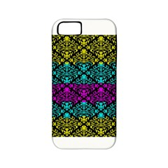 Cmyk Damask Flourish Pattern Apple Iphone 5 Classic Hardshell Case (pc+silicone)