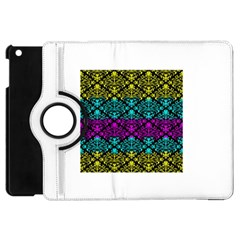 Cmyk Damask Flourish Pattern Apple iPad Mini Flip 360 Case