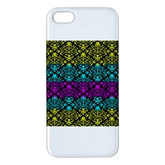 Cmyk Damask Flourish Pattern iPhone 5 Premium Hardshell Case