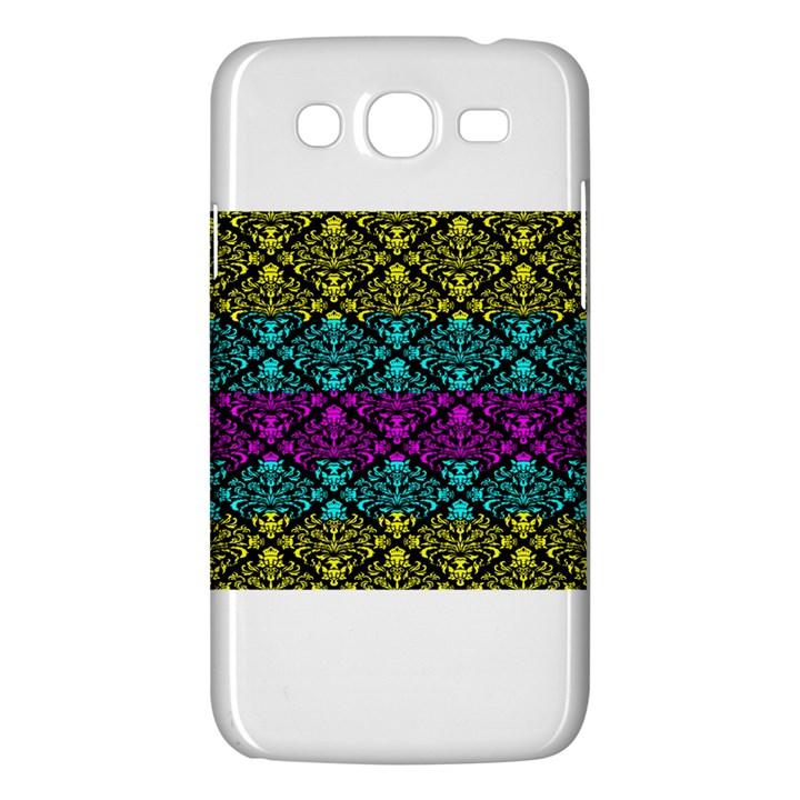Cmyk Damask Flourish Pattern Samsung Galaxy Mega 5.8 I9152 Hardshell Case