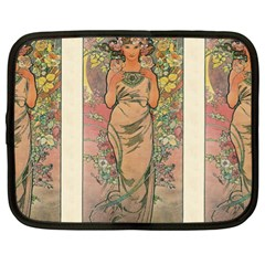 Die Rose By Alfons Mucha 1898 Netbook Case (XL)
