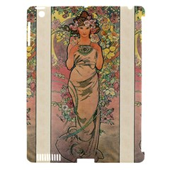 Die Rose By Alfons Mucha 1898 Apple iPad 3/4 Hardshell Case (Compatible with Smart Cover)