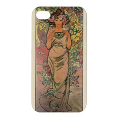 Die Rose By Alfons Mucha 1898 Apple iPhone 4/4S Premium Hardshell Case