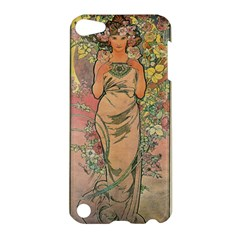 Die Rose By Alfons Mucha 1898 Apple iPod Touch 5 Hardshell Case
