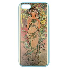 Die Rose By Alfons Mucha 1898 Apple Seamless iPhone 5 Case (Color)