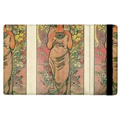 Die Rose By Alfons Mucha 1898 Apple iPad 3/4 Flip Case