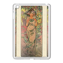 Die Rose By Alfons Mucha 1898 Apple iPad Mini Case (White)