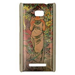 Die Rose By Alfons Mucha 1898 HTC 8X Hardshell Case