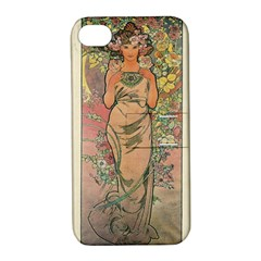 Die Rose By Alfons Mucha 1898 Apple iPhone 4/4S Hardshell Case with Stand