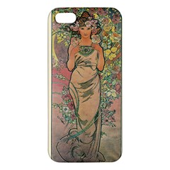 Die Rose By Alfons Mucha 1898 iPhone 5 Premium Hardshell Case