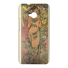 Die Rose By Alfons Mucha 1898 HTC One M7 Hardshell Case