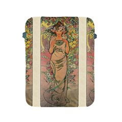 Die Rose By Alfons Mucha 1898 Apple iPad 2/3/4 Protective Soft Case