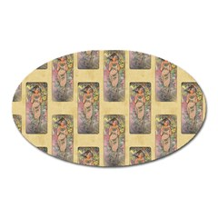 Die Rose By Alfons Mucha 1898 Magnet (Oval)