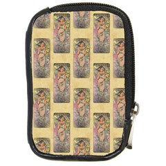 Die Rose By Alfons Mucha 1898 Compact Camera Leather Case
