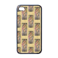 Die Rose By Alfons Mucha 1898 Apple iPhone 4 Case (Black)
