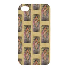Die Rose By Alfons Mucha 1898 Apple iPhone 4/4S Hardshell Case