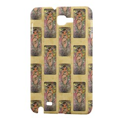 Die Rose By Alfons Mucha 1898 Samsung Galaxy Note 1 Hardshell Case