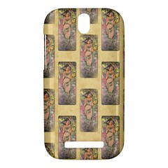 Die Rose By Alfons Mucha 1898 HTC One SV Hardshell Case