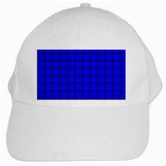 Blue Weave White Baseball Cap