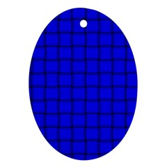 Blue Weave Oval Ornament