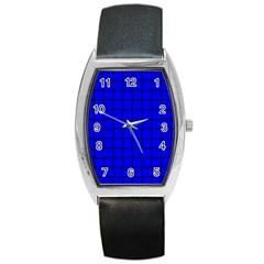 Blue Weave Tonneau Leather Watch
