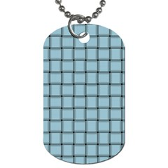 Light Blue Weave Dog Tag (two Sided)