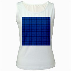 Cobalt Weave Womens  Tank Top (White)