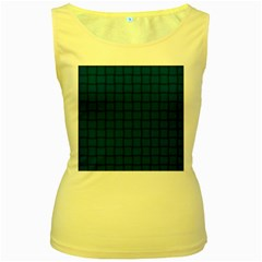 Cobalt Weave Womens  Tank Top (yellow)