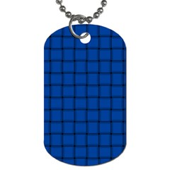 Cobalt Weave Dog Tag (One Sided)