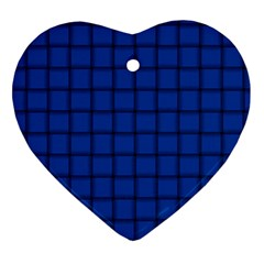 Cobalt Weave Heart Ornament (two Sides)