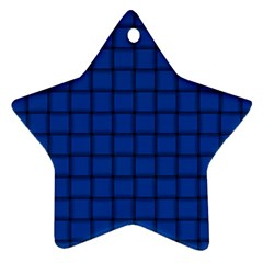 Cobalt Weave Star Ornament (Two Sides)