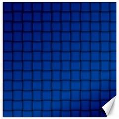 Cobalt Weave Canvas 20  x 20  (Unframed)