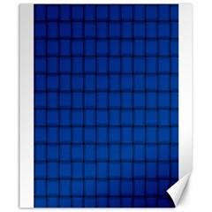 Cobalt Weave Canvas 20  x 24  (Unframed)
