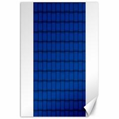 Cobalt Weave Canvas 20  X 30  (unframed)