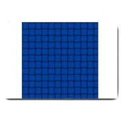 Cobalt Weave Large Door Mat
