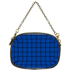 Cobalt Weave Chain Purse (One Side)