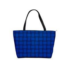 Cobalt Weave Large Shoulder Bag