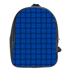 Cobalt Weave School Bag (Large)