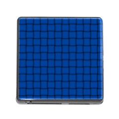 Cobalt Weave Memory Card Reader with Storage (Square)