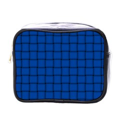 Cobalt Weave Mini Travel Toiletry Bag (One Side)