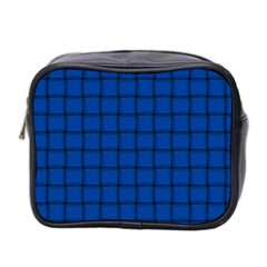 Cobalt Weave Mini Travel Toiletry Bag (Two Sides)